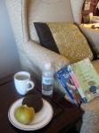 post-flight breakfast